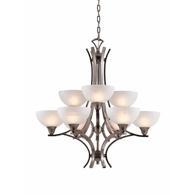 Triarch Lighting Luxor 9 Light Chandelier