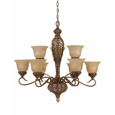 Crown Jewel 9 Light Chandelier