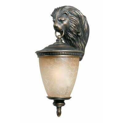 Triarch Lighting Lion Exterior Outdoor Wall Lantern in Oil Rubbed Bronze