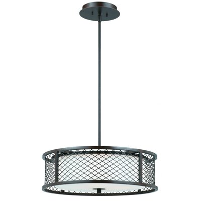 Triarch Lighting Chainlink 4 Light Drum Foyer Pendant