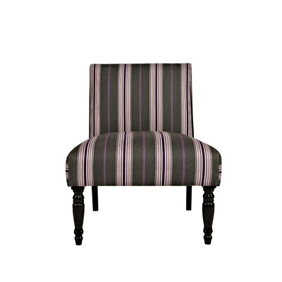 Bradstreet Founding Stripe and Plum Slipper Chair