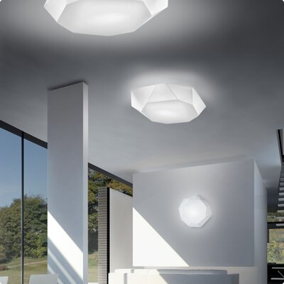 Zaneen Lighting VIki Semi Flush in White