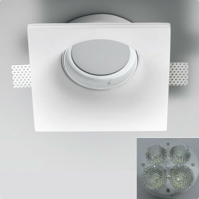 Zaneen Lighting Invisibli 4 Light Recessed Square with Adjustable LED