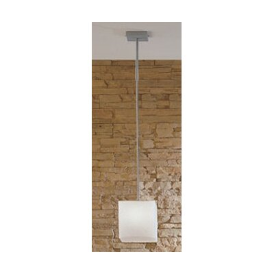 Zaneen Lighting Kubik Large Single Light Pendant in Gray Metal