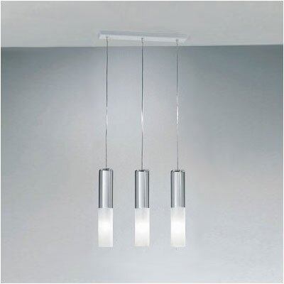 Zaneen Lighting Jazz Three Light Pendant Holder in White