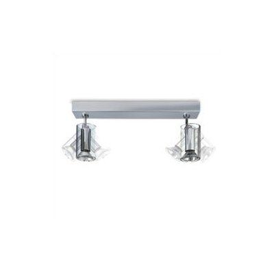 Zaneen Lighting TU-B Two Light Horizontal Ceiling Semi Flush Mount