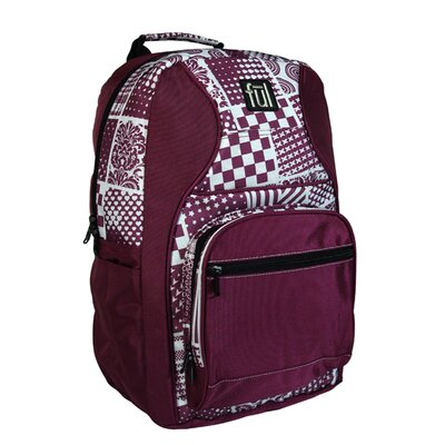 Superstition Backpack in Purple with Checker Plaid