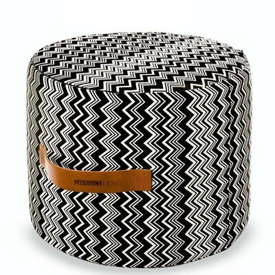 Missoni Home Tobago Cylindrical Pouf Ottoman