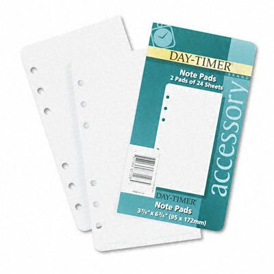 Day-Timer® Lined Notes for Looseleaf Planners, 3-3/4 x 6-3/4, 48 Sheets per Pack