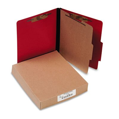 Acco Brands, Inc. Presstex Classification Folders, Letter, Four-Section, 10/Box