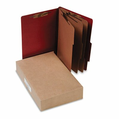 Acco Brands, Inc. Pressboard 25-Pt. Classification Folder, Legal, 8 Section, 10/Box