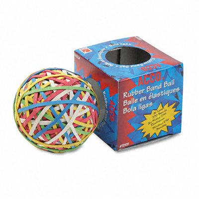 Acco Brands, Inc. Rubber Band Ball, Minimum 260 Rubber Bands