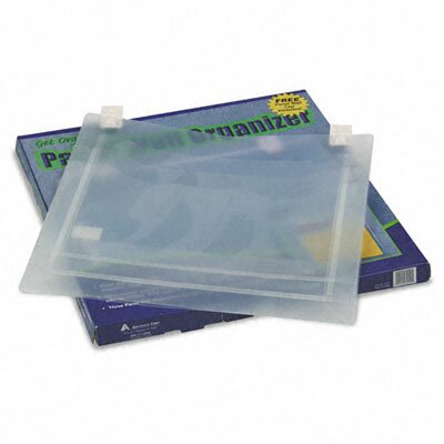 Advantus Corp. Transparent Three Pocket Panel Wall Organizers, Letter