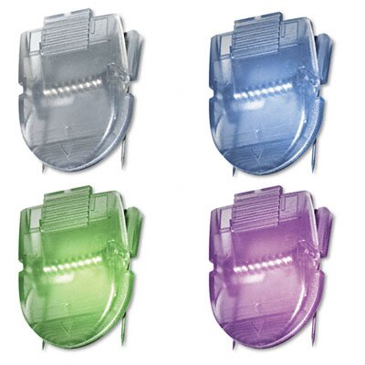 Advantus Corp. Fabric Panel Cubicle Wall Clips, Metallic Colors, 20 per Pack