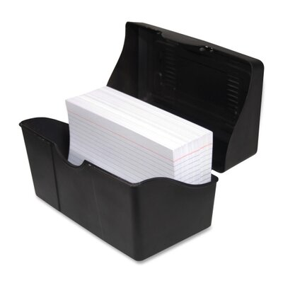 "Advantus Corp. Index Card Holders, 4""x6"", Black"