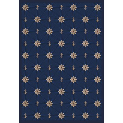 Whimsy Mariner's Tale Anchor Navy Rug