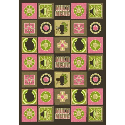 Joy Carpets Just for Kids Wired Pink Kids Rug