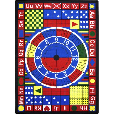 Joy Carpets Essentials Teach-A-Tot Kids Rug with Stainmaster