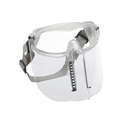 Aearo Technologies Impact Goggles With Clear Frame, Clear Anti-Fog Lens And Flip-Up, Vented Chin Guard (10 Per Box)