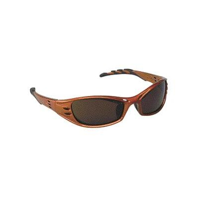 Aearo Technologies Safety Glasses With Burnt Copper Frame, Bronze Lens, Lanyard And Micro Fiber Bag