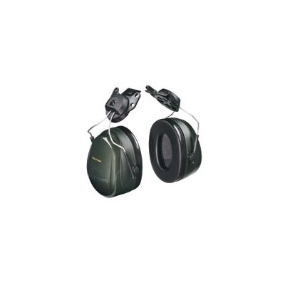 Aearo Technologies H7 Deluxe Performance Series Helmet Hearing Protector Green With Fluid Foam Filled Cushion