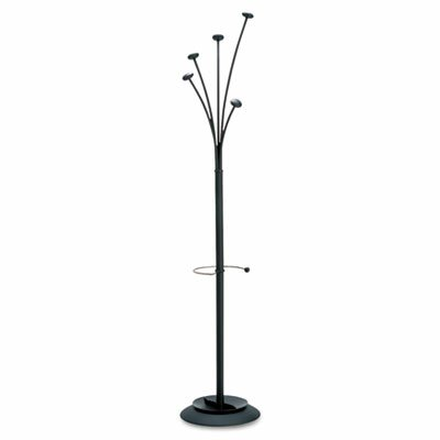 Alba, Inc Festival Coat Tree, Five Knobs, Black