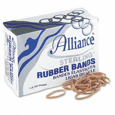 Alliance Rubber Sterling Ergonomically Correct Rubber Bands, #30, 2 X 1/8, 1500 Bands/1Lb Box