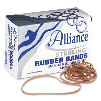 Alliance Rubber Sterling Ergonomically Correct Rubber Bands, #117B, 7 X 1/8, 250 Bands/1Lb Box