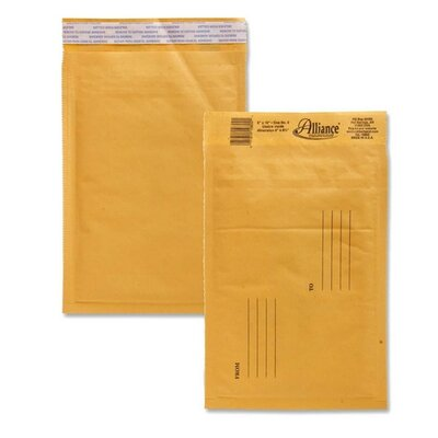 "Alliance Rubber Envelopes,No. 0,Bubble Cushioned,6""x10"""