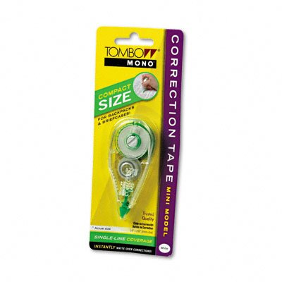 "Tombow Mono Correction Tape, Mini Model, Non-Refillable, 1/6"" x 236"""