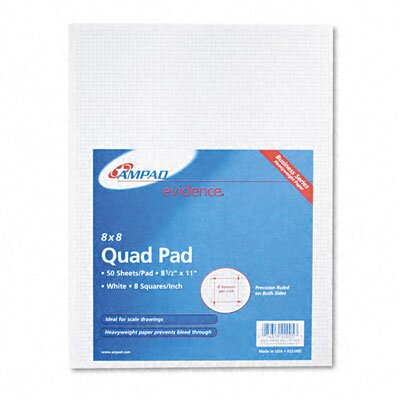 AMPAD Corporation Quadrille Pads in White