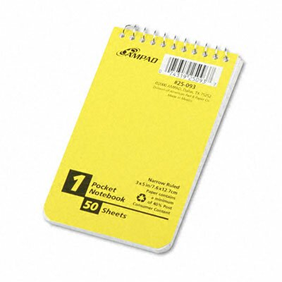 AMPAD Corporation Recycled Memo Books in White (Pack of 3)