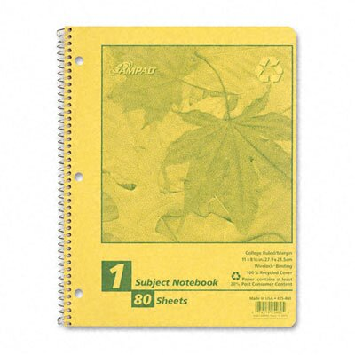 AMPAD Corporation Autumn Leaf Wirebound Notebook, College/Med Rule, 8-1/2x11, WE, 80 Sheets                                                    