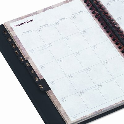 At-A-Glance LifeLinks Weekly/Monthly Planner, Desk Size, 4-7/8 x 8, Black, 2014