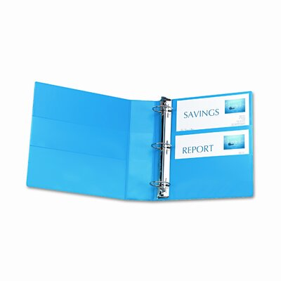 Avery Consumer Products Nonstick Heavy-Duty Locking Round Ring View Binder, 2in Cap, Light Blue