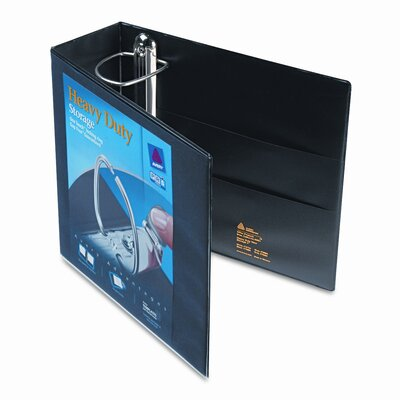 Avery Consumer Products Nonstick Heavy-Duty EZD Reference View Binder, 4in Capacity, Black