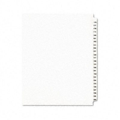 Avery Consumer Products Avery-Style Legal Side Tab Divider, Title: 176-200, Letter, White, One Set                                                   