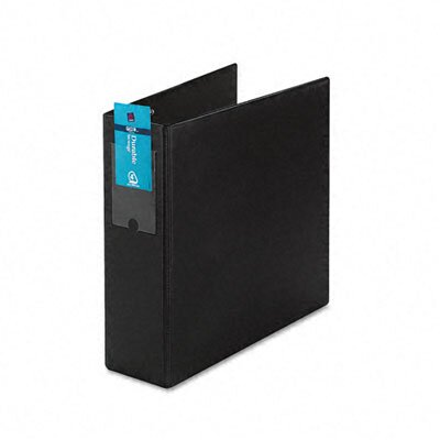 Avery Consumer Products Durable Vinyl Slant Ring Binder w/Label Holder, 4in Capacity, Black