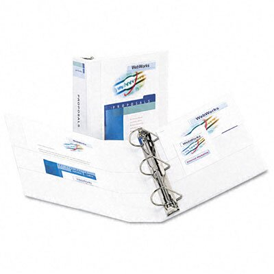 Avery Consumer Products Durable Slant Easy Insert Ring View Binder, 3in Capacity, White