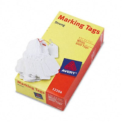 Avery Consumer Products Price Tags, Paper/Twine, 1-3/4 x 1-1/2, White, 1000 per Box