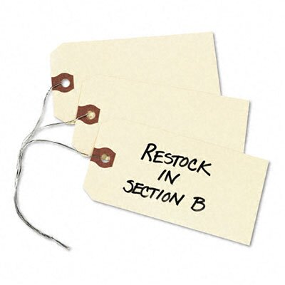 Avery Consumer Products Shipping Tag w/Reinforced Eyelet, Paper/Double Wire, 4-3/4 x 2-3/8, MLA, 1000/Pk
