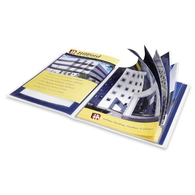 "Avery Consumer Products Presentation Books, 12 Pages, 9-1/2""x11-1/2"", Blue"