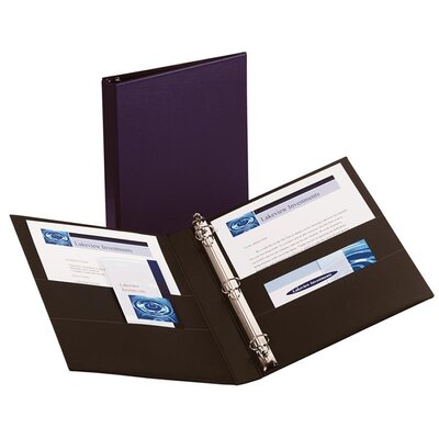 Avery Consumer Products Durable EZ-Turn Ring Reference Binder, 8-1/2 x 11, 1in Capacity, Blue