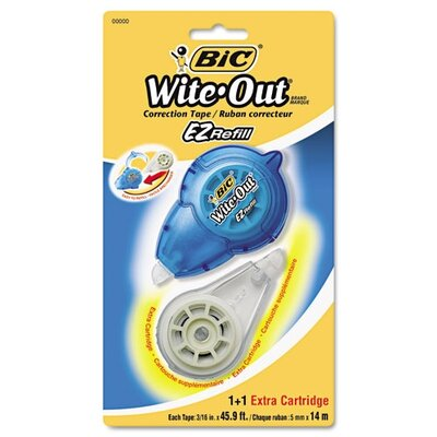 Bic Corporation Refillable Wite-Out Ez Refill Correction Tape