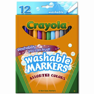 Crayola LLC Washable Fine Point Markers (12/Set)