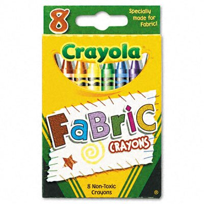 Crayola LLC Fabric Crayons (8 Colors/Box)