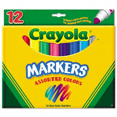 Crayola LLC Non-Washable Broad Point Markers(12/Set)