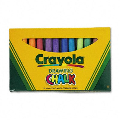 Crayola LLC Colored Drawing Chalk (12 Sticks/Set)