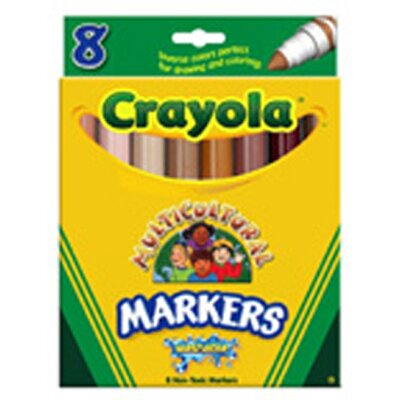 Crayola LLC Multicultural Wash Mrk Conical 8pk
