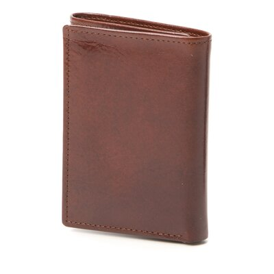 Bond Street, LTD. Hand Stained Italian Leather Trifold Wallet with Wing